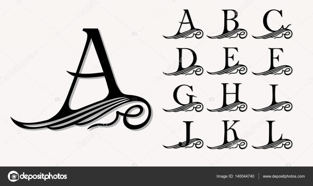 Заглавные буквы каллиграфия   красивые картинки004