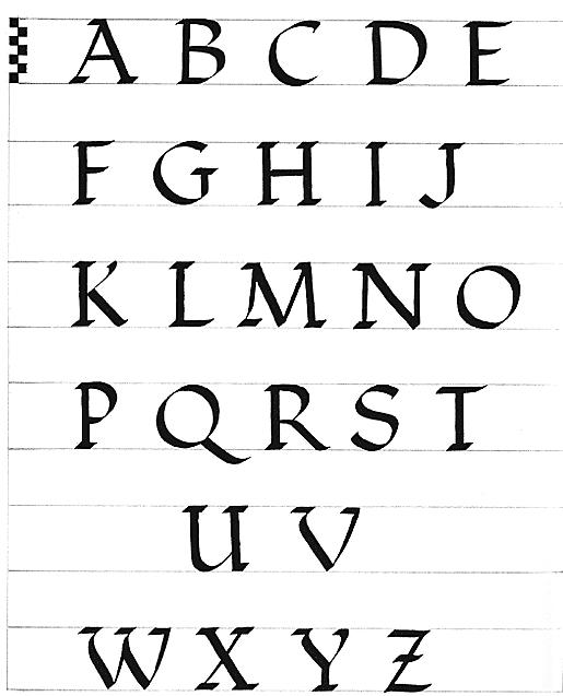 Заглавные буквы каллиграфия   красивые картинки006