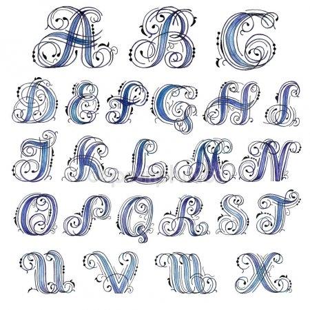 Заглавные буквы каллиграфия   красивые картинки007