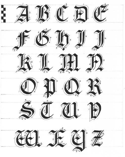 Заглавные буквы каллиграфия   красивые картинки023