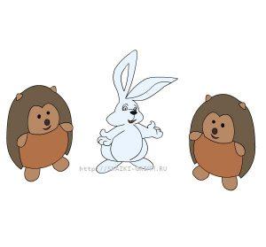 Заяц и ежик картинки, изображения 026
