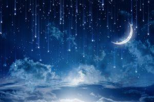 Звездное небо с луной   фото и картинки 027