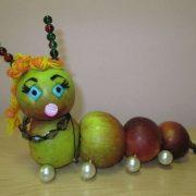 Зверята из овощей и фруктов   красивые фото 025
