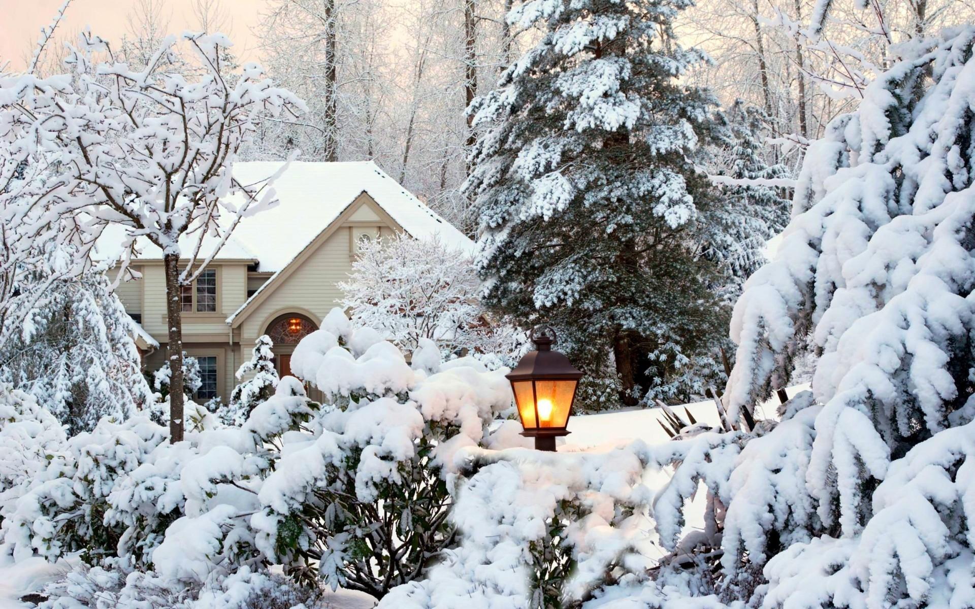 Зима в городе   обои для рабочего стола (10)