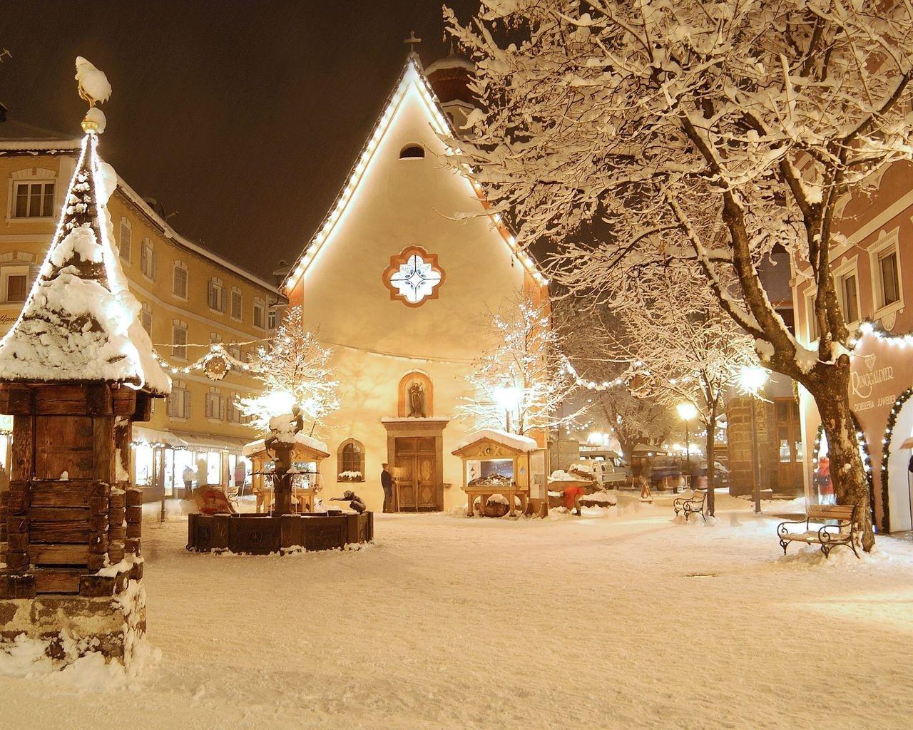 Зима в городе   обои для рабочего стола (11)