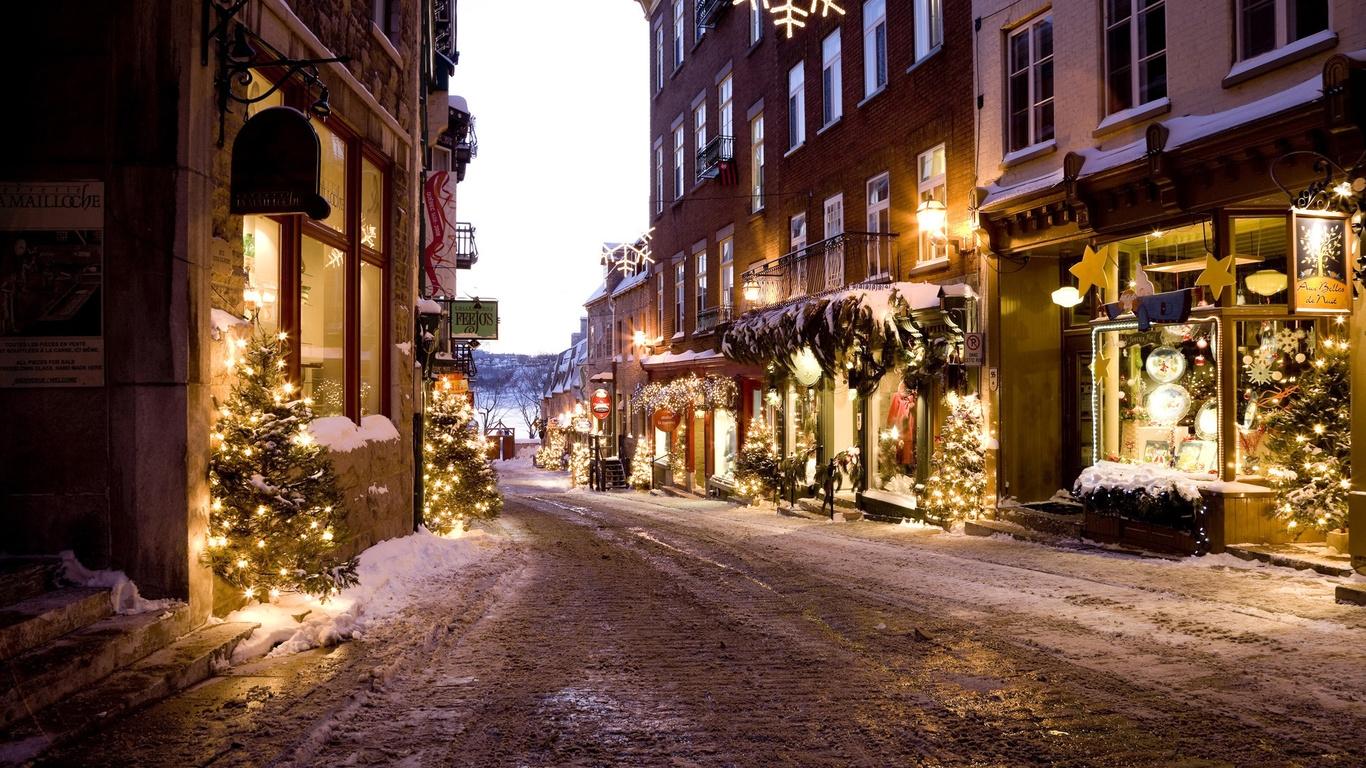 Зима в городе   обои для рабочего стола (12)