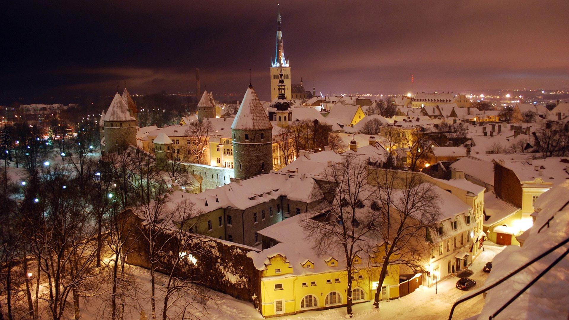 Зима в городе   обои для рабочего стола (14)