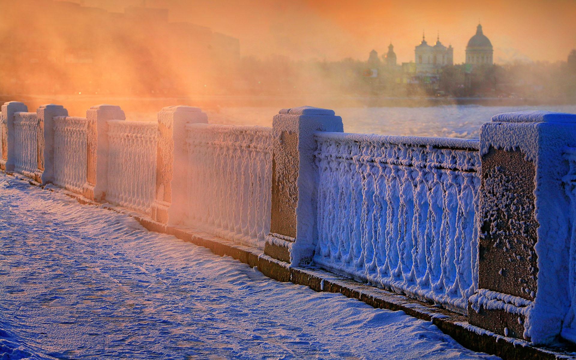Зима в городе   обои для рабочего стола (16)
