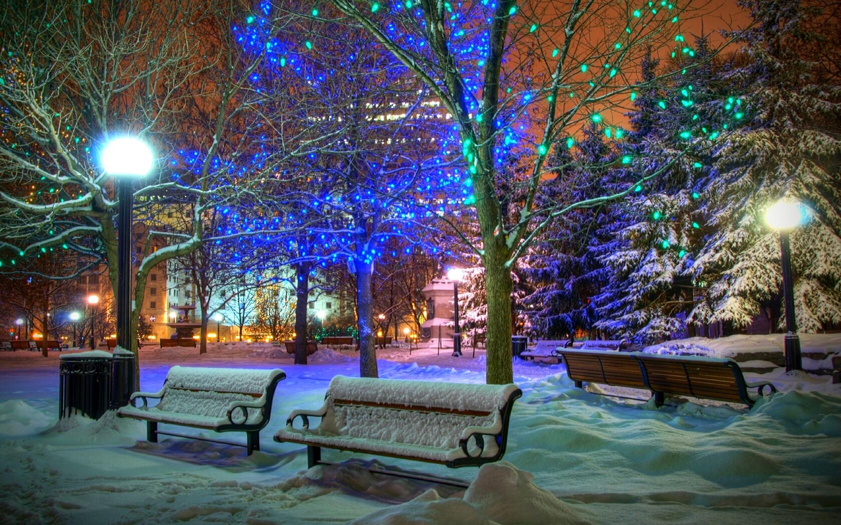 Зима в городе   обои для рабочего стола (20)