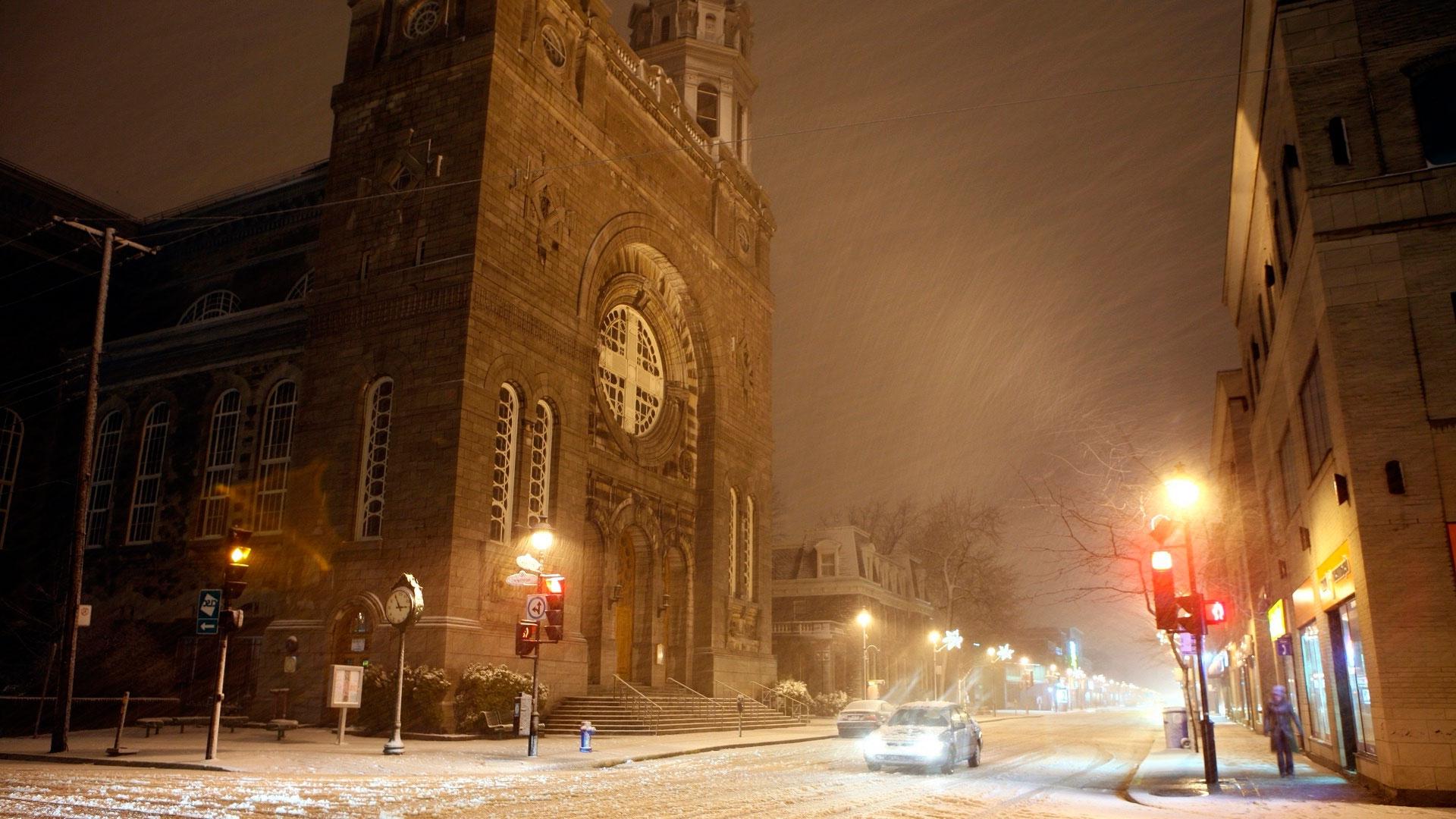 Зима в городе   обои для рабочего стола (21)