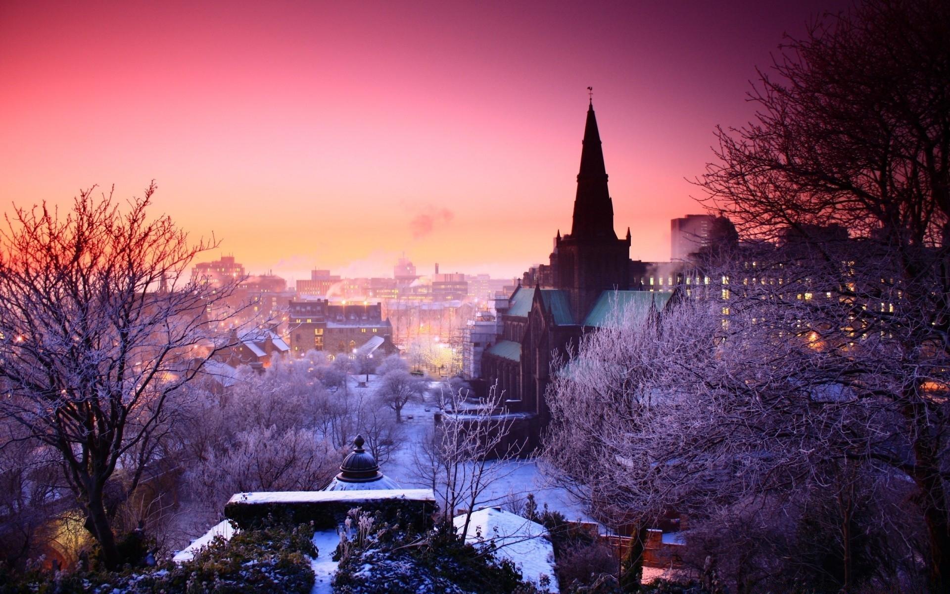 Зима в городе   обои для рабочего стола (28)