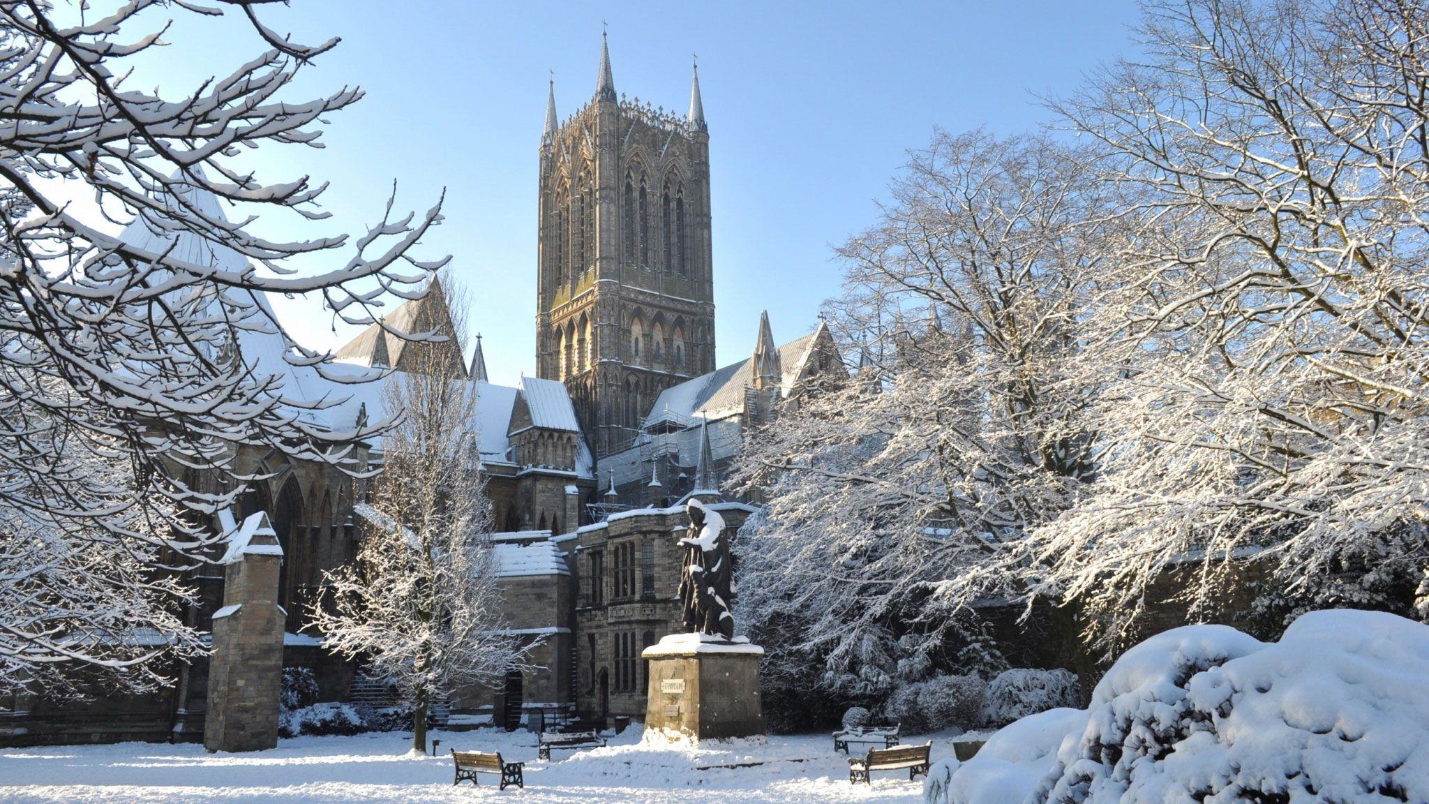 Зима в городе   обои для рабочего стола (3)