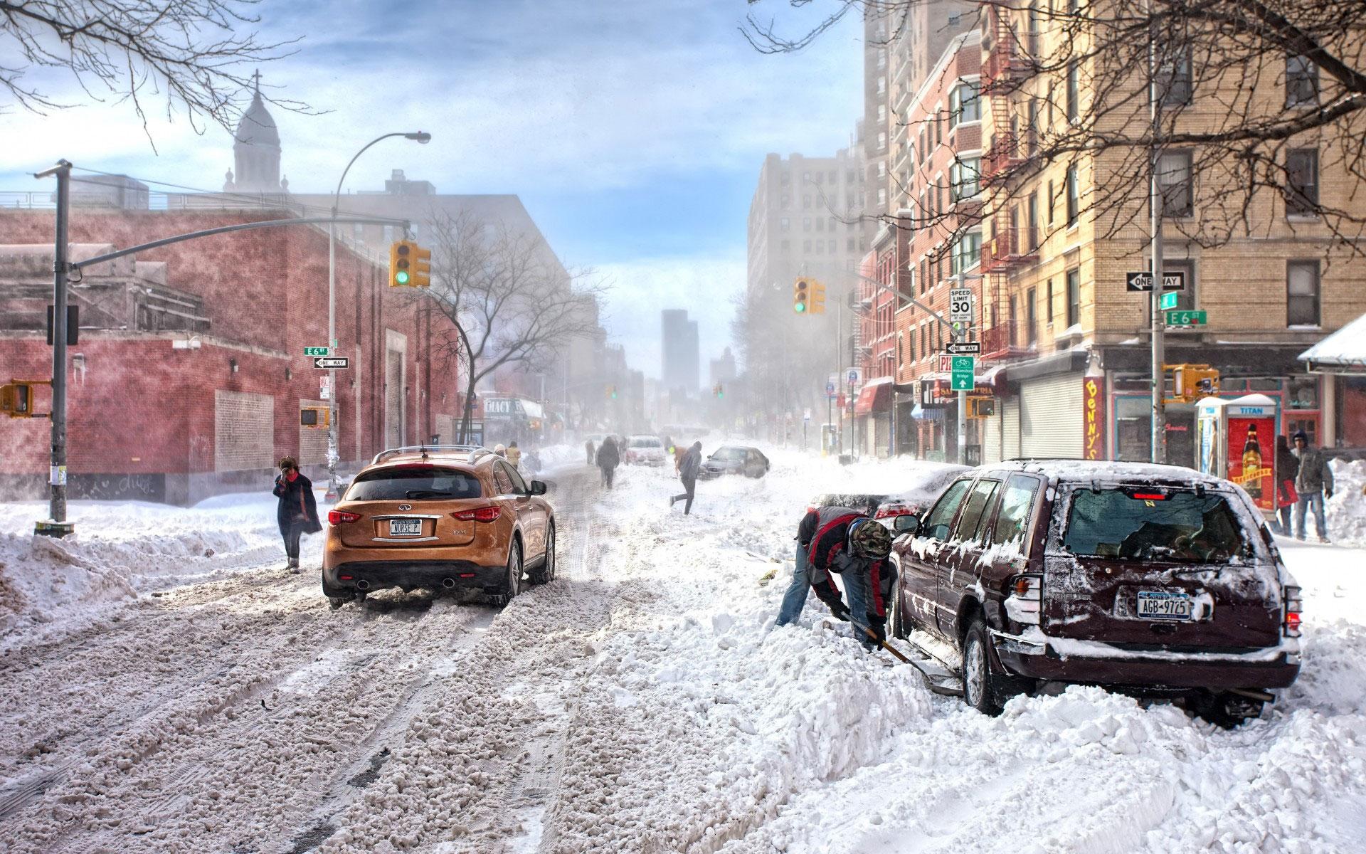Зима в городе   обои для рабочего стола (31)