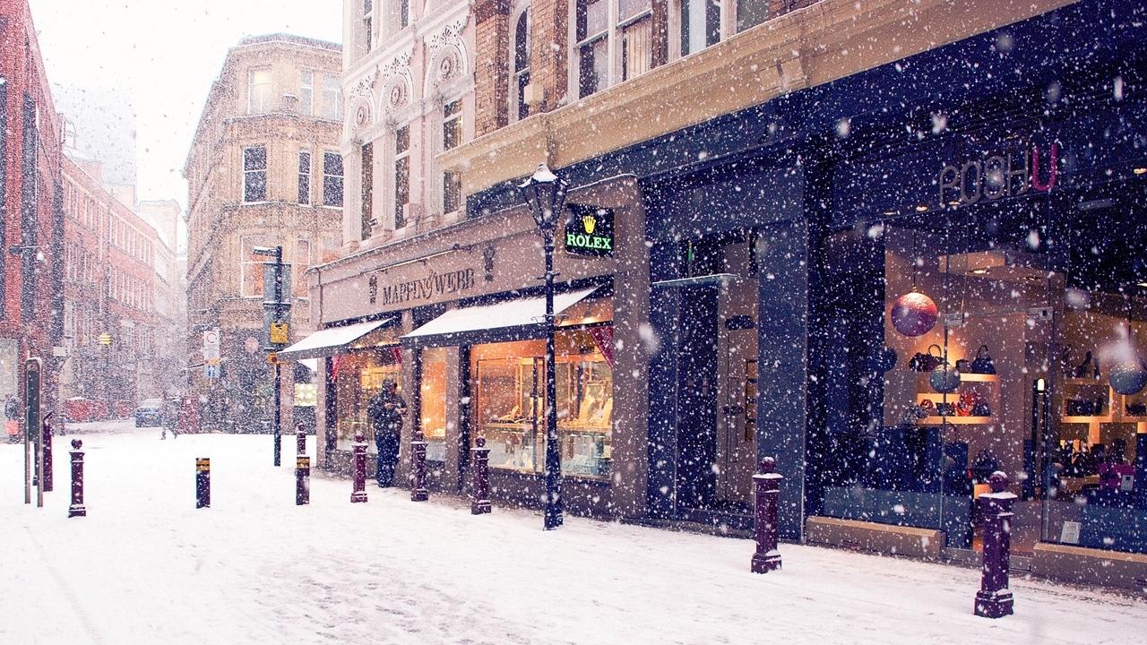 Зима в городе   обои для рабочего стола (32)