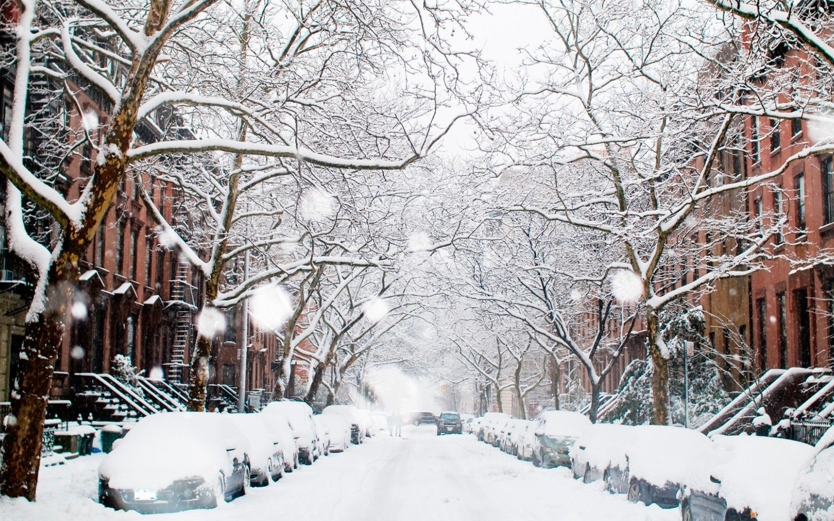 Зима в городе   обои для рабочего стола (4)