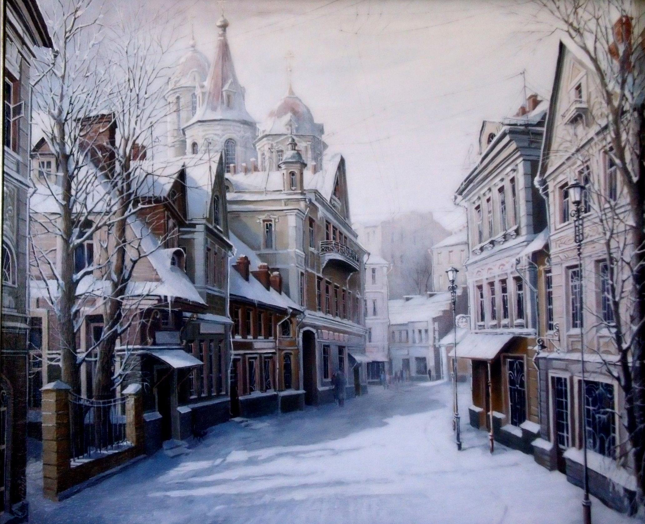 Зима в городе   обои для рабочего стола (8)