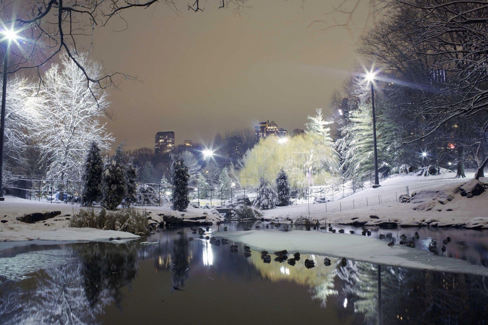 Зима в городе   обои для рабочего стола (9)