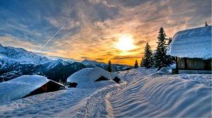 Зимний красивый пейзаж фото и картинки 024