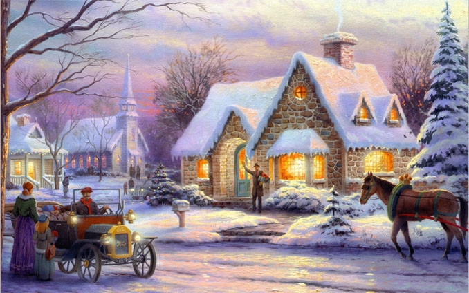 Зимняя сказка картинки красивые и интересные025