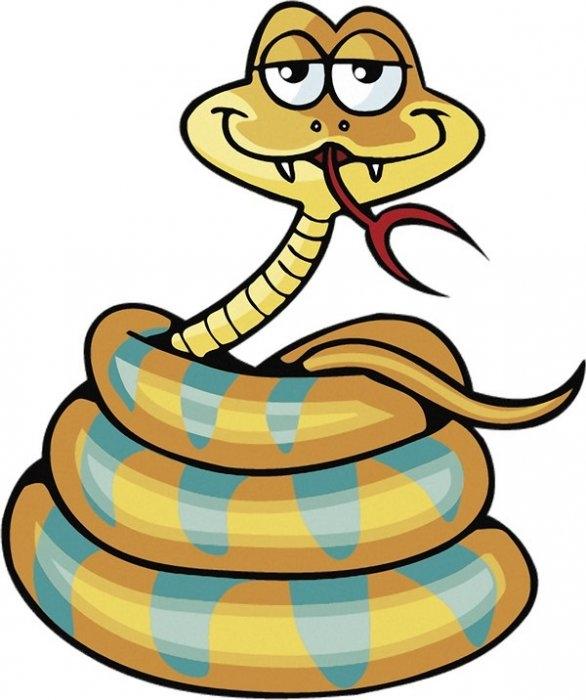 Змея на прикольных рисунках