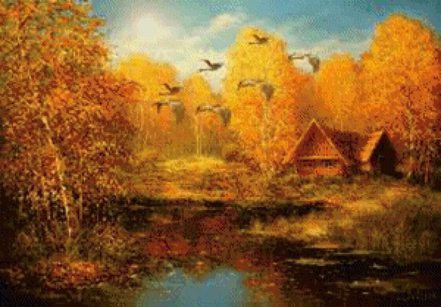 Золотая осень в деревне картинки 027