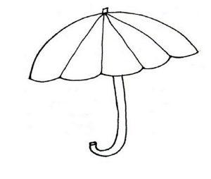 Зонтик раскраска для детей картинки 029