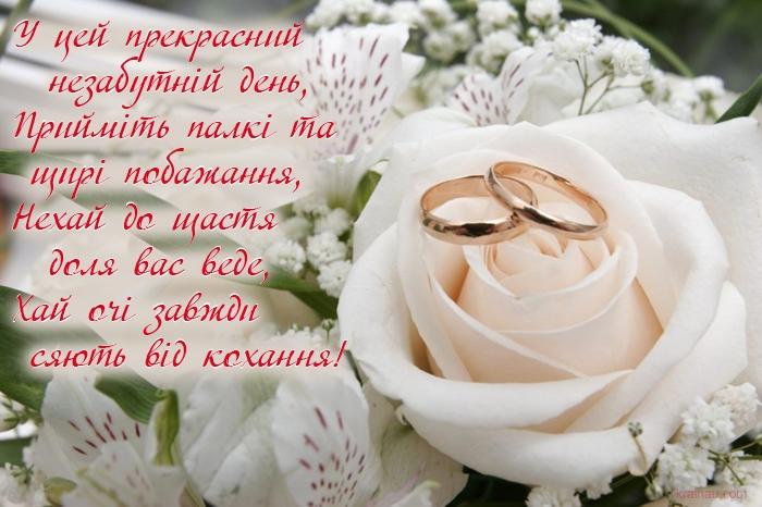 Поздравления свадебные на украинском