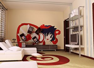 Интересные картинки аниме комнаты 021