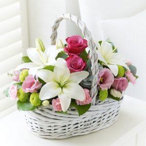 Интересные фото букет с лилиями   картинки цветов (23)