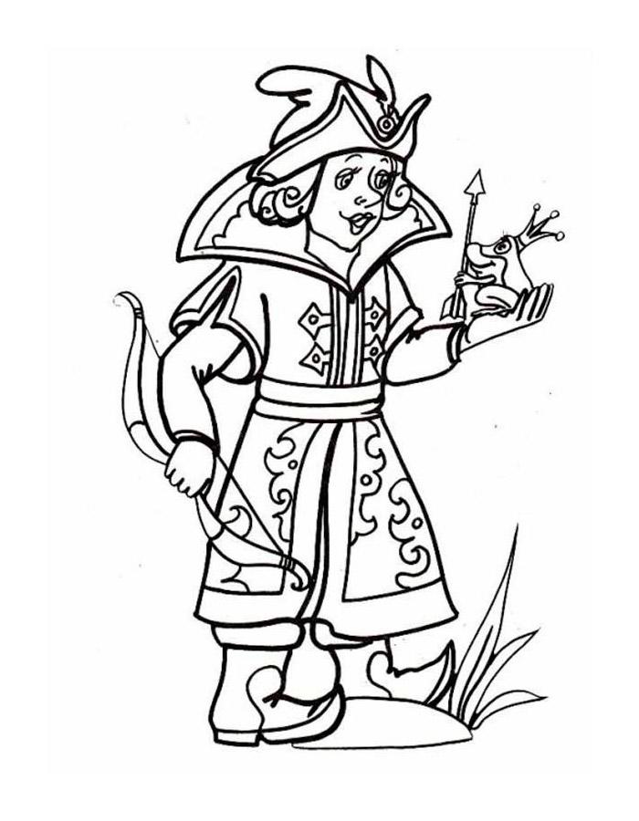 Как нарисовать Ивана Царевича и Лягушку Царевну   рисунки (10)