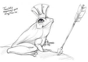 Как нарисовать Ивана Царевича и Лягушку Царевну   рисунки (25)