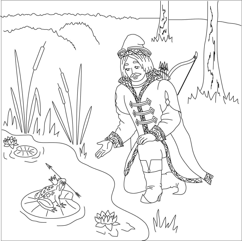 Как нарисовать Ивана Царевича и Лягушку Царевну   рисунки (5)