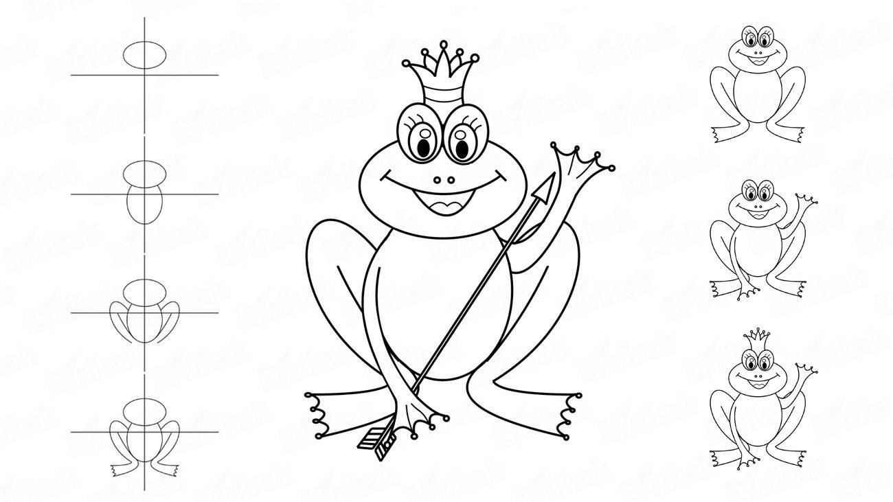 Как нарисовать Ивана Царевича и Лягушку Царевну   рисунки (6)