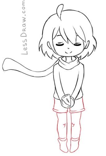 Как нарисовать Фриск из undertale карандашом поэтапно   арты (1)