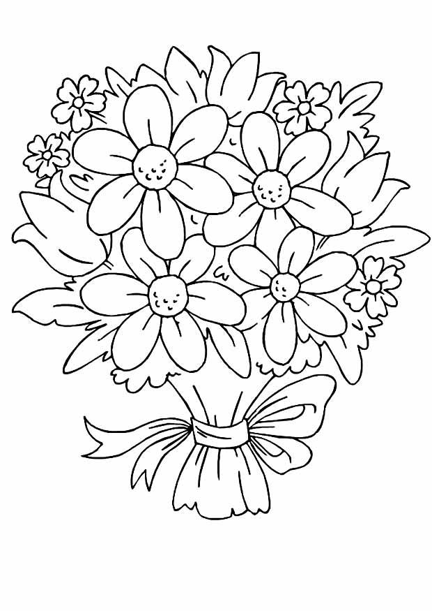 Рисуем букет цветов открытка, надписью какая разница