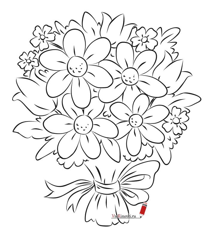 трудолюбивый букет цветов картинки как нарисовать спасибо