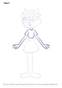 Как нарисовать звездную принцессу и силы зла022