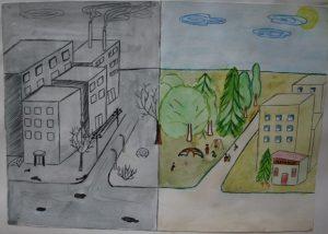 Как нарисовать охрану воздуха   лучшие рисунки 024