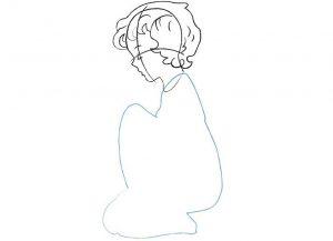 Как нарисовать поэтапно карандашом ангелочка 029