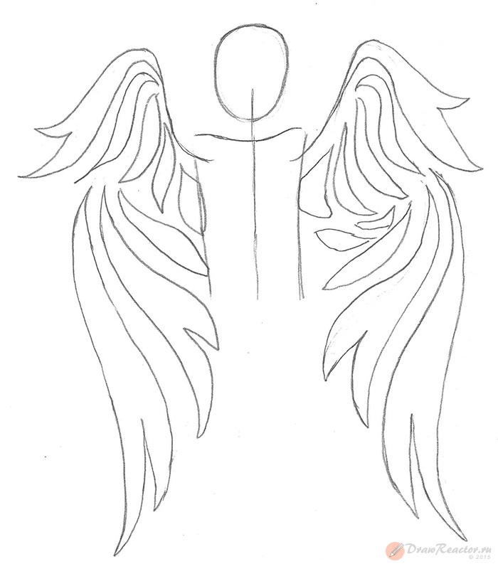 Картинки поэтапно рисуем ангела