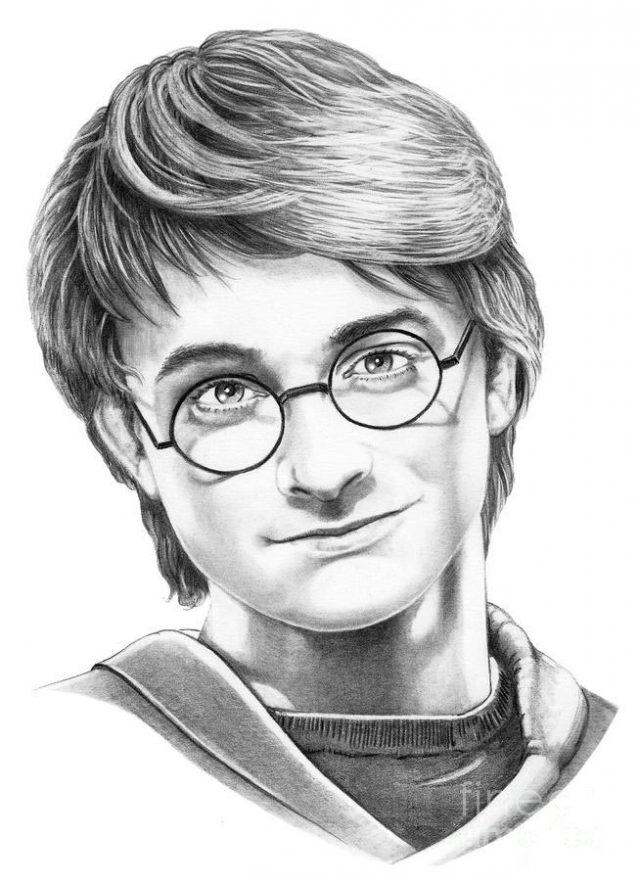 Как нарисовать рисунок Гарри Поттер   подборка 001