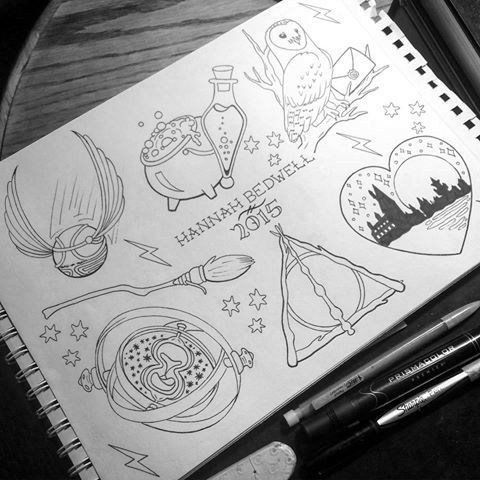 Как нарисовать рисунок Гарри Поттер   подборка 004