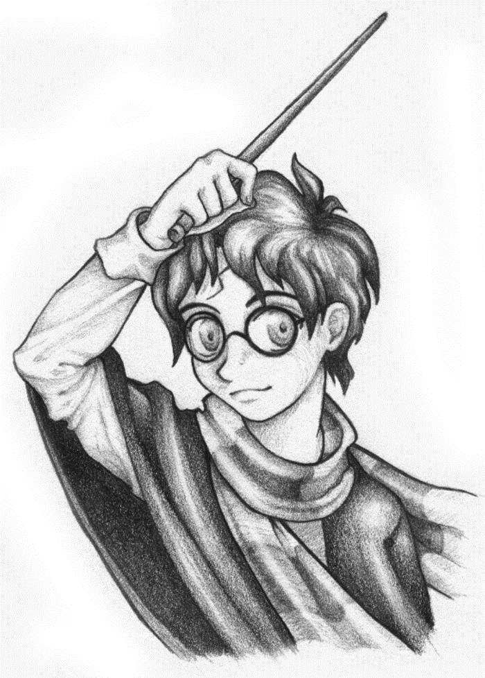 Как нарисовать рисунок Гарри Поттер   подборка 005