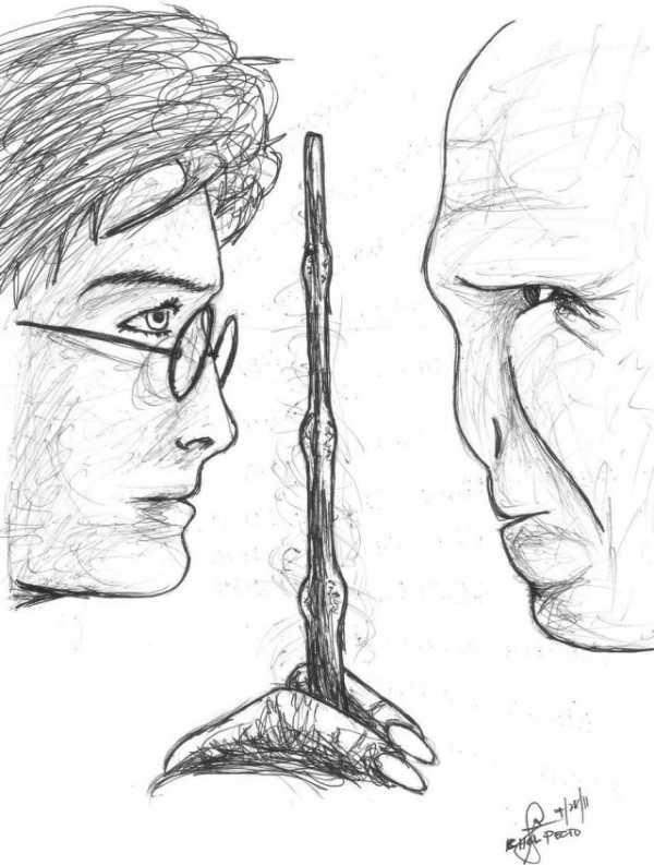 Как нарисовать рисунок Гарри Поттер   подборка 006