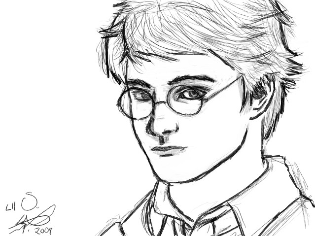 Как нарисовать рисунок Гарри Поттер   подборка 008