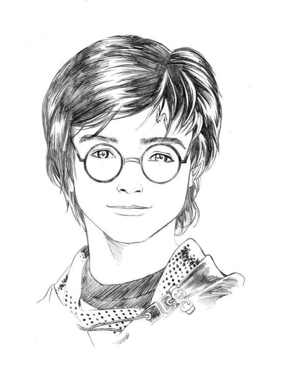 Как нарисовать рисунок Гарри Поттер   подборка 012