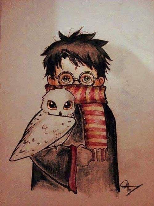 Как нарисовать рисунок Гарри Поттер   подборка 013
