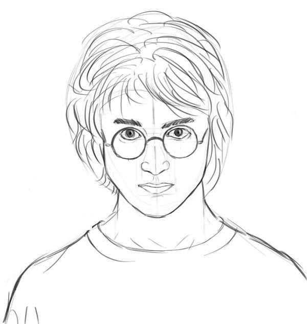 Как нарисовать рисунок Гарри Поттер   подборка 024