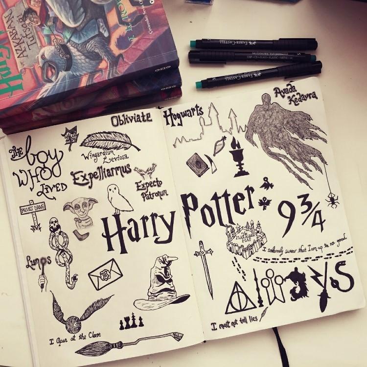 Как нарисовать рисунок Гарри Поттер   подборка 028