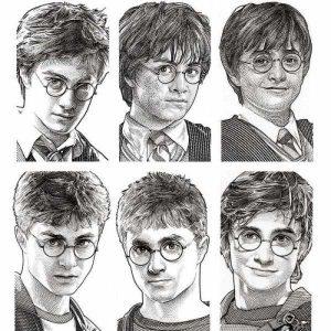 Как нарисовать рисунок Гарри Поттер   подборка 029
